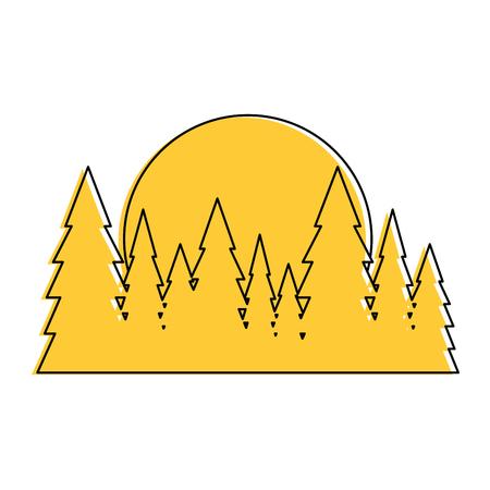 sequoia: Tree pines isolated icon vector illustration graphic design