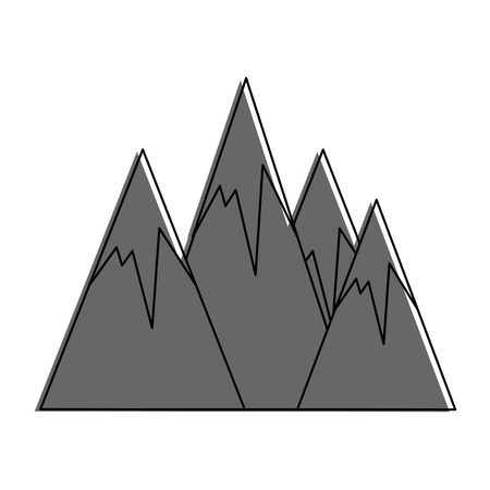 Peak mountains landscape icon vector illustration graphic design