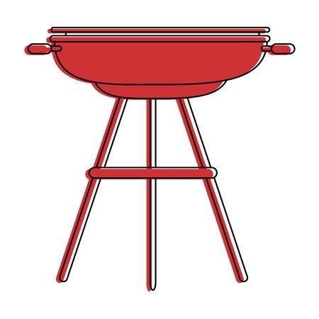 BBQ Grill Wurst Symbol Vektor-Illustration Grafik-Design Standard-Bild - 84667566