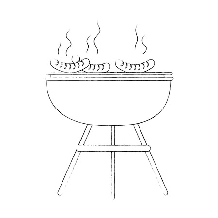 Bbq grill sausages icon vector illustration graphic design Zdjęcie Seryjne - 84667585