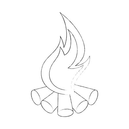 キャンプ場たき火分離アイコン ベクトル イラスト グラフィック デザイン 写真素材 - 84674751