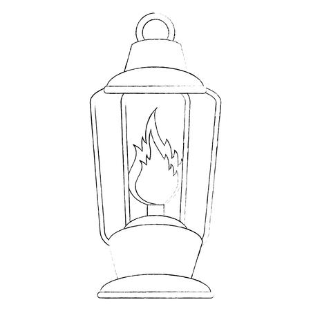캠핑 램프 flamme 아이콘 벡터 일러스트 그래픽 디자인 스톡 콘텐츠 - 84674788
