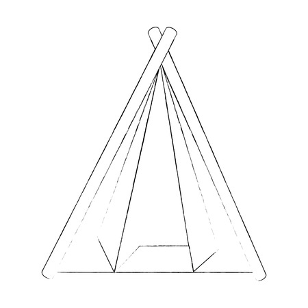 Camping tent isolated icon vector illustration graphic design Illusztráció
