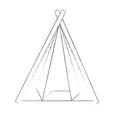 Tienda de campaña icono aislado ilustración vectorial diseño gráfico Foto de archivo - 84674782