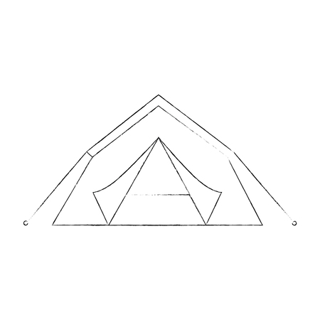 Camping tent isolated icon vector illustration graphic design Stock Vector - 84750890