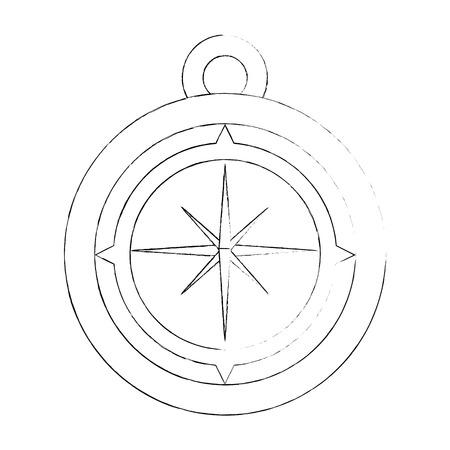 ナビゲーション コンパス ツール アイコン ベクトル イラスト グラフィック デザイン