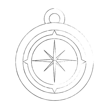 탐색 나침반 도구 아이콘 벡터 일러스트 그래픽 디자인