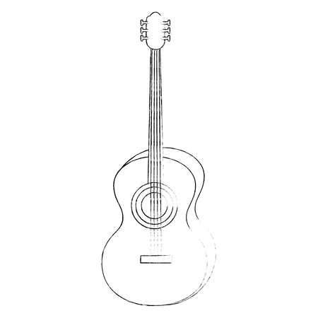Acoustic guitar music instrument icon vector illustration graphic design