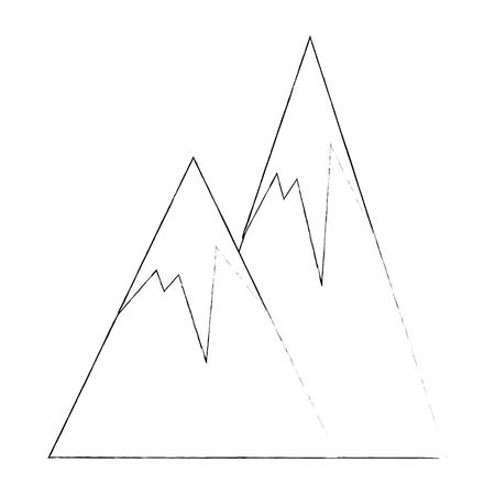 山の風景のアイコン ベクトル イラスト グラフィック デザイン