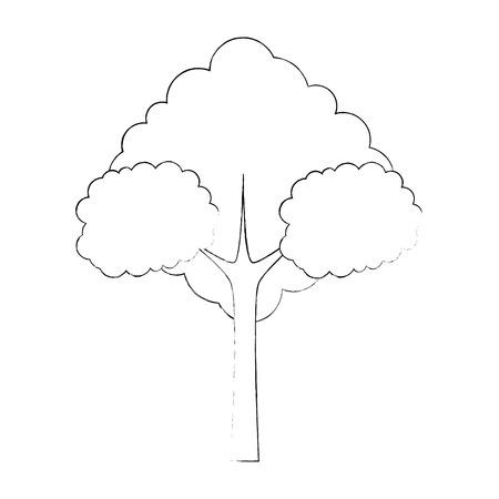 나무 자연 기호 아이콘 벡터 일러스트 그래픽 디자인