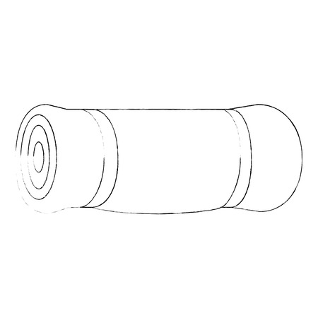 Sleeping camping isolated icon vector illustration graphic design Illusztráció
