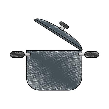 鋼調理鍋アイコン ベクトル イラスト グラフィック デザイン