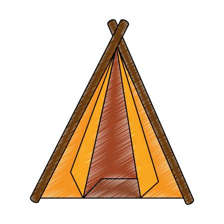 キャンプ テント分離アイコン ベクトル イラスト グラフィック デザイン
