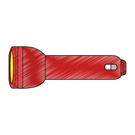 캠핑 손전등 격리 된 아이콘 벡터 일러스트 그래픽 디자인 일러스트