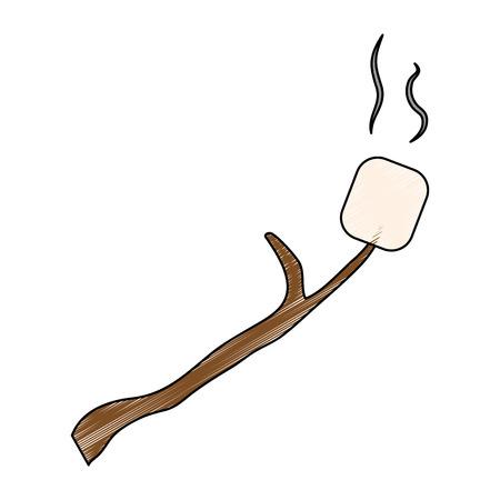 marshmallows sweet snack icon vector illustration graphic design Illusztráció