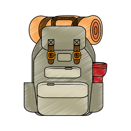 Camping backpack icon vector illustration graphic design Ilustração