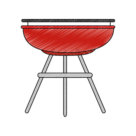 Bbq grill sausages icon vector illustration graphic design Zdjęcie Seryjne - 84668694