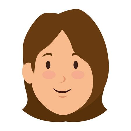 Mujer de dibujos animados icono sonriente ilustración vectorial diseño gráfico Foto de archivo - 84752137