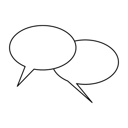 Van het het symboolpictogram van het bellenpraatje het vectorillustratie grafische ontwerp Stock Illustratie