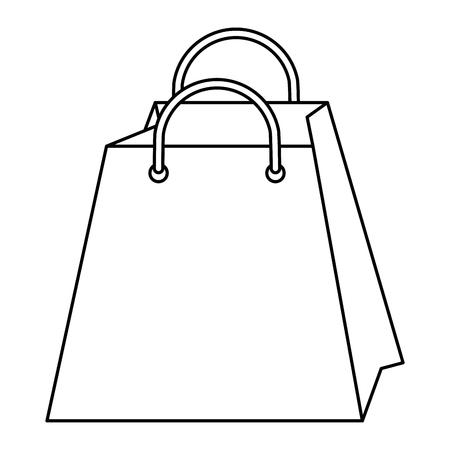 Het winkelen zak geïsoleerde grafische ontwerp van de pictogram vectorillustratie