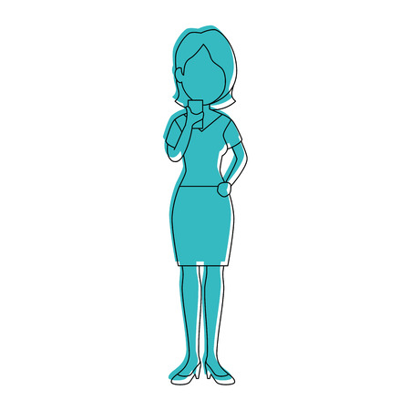 Woman with smartphone icon vector illustration graphic design