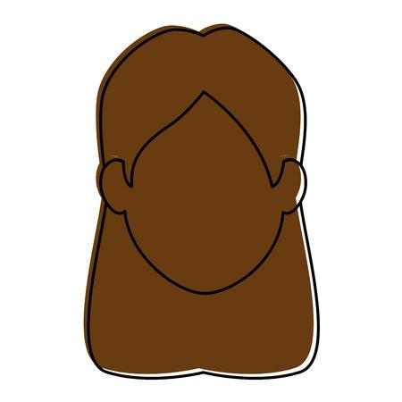 여자 만화 미소 아이콘 벡터 일러스트 그래픽 디자인 일러스트