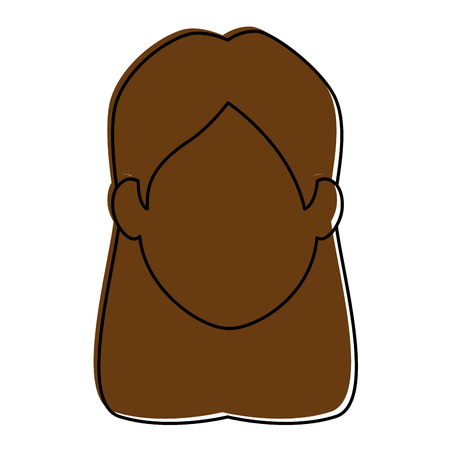 Lächelnde Ikone der Frau Cartoon Ikonenvektor-Illustrationsgrafikdesign Standard-Bild - 84712058