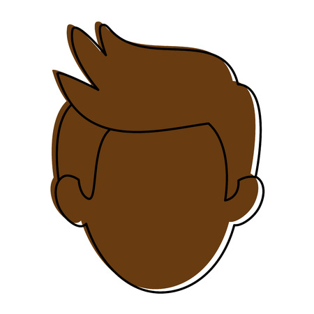 Man cartoon smiling icon vector illustration graphic design