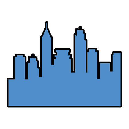 Urban city view icon vector illustration graphic design