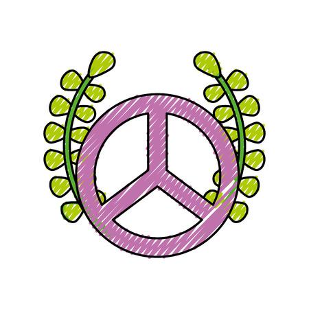 안주 벡터 일러스트 레이 션 디자인 평화 상징