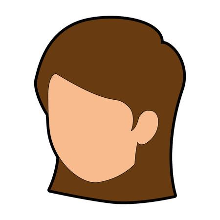 Vrouw cartoon lachend pictogram vector illustratie grafisch ontwerp