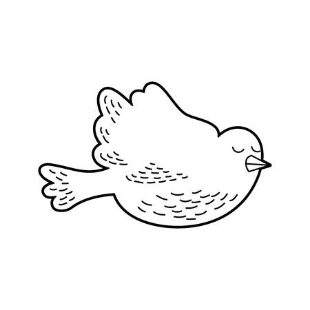 Cute dove isolated icon vector illustration design