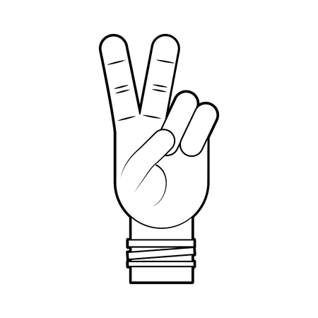 Hand making peace and love vector illustration design 向量圖像