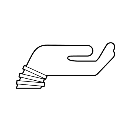 Main demandant isolé icône du design d & # 39 ; illustration vectorielle Banque d'images - 84668402