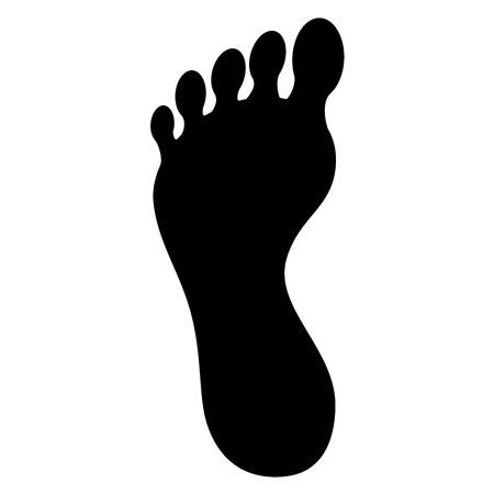 Vector de illustratieontwerp van het voetinstallaties geïsoleerd pictogram Stock Illustratie