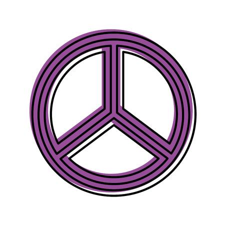 평화 기호 격리 아이콘 벡터 일러스트 디자인