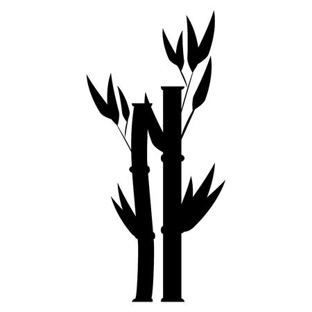 대나무 식물 자연 아이콘 벡터 일러스트 레이 션 디자인