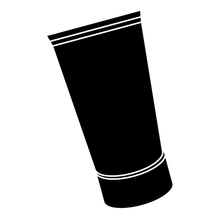 cream bottle care product vector illustration design