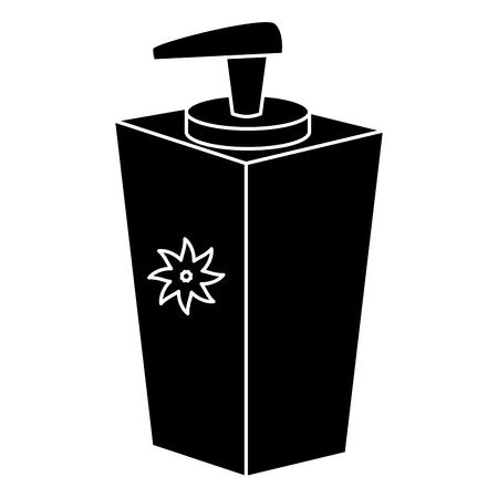 soap bottle dispenser icon vector illustration design