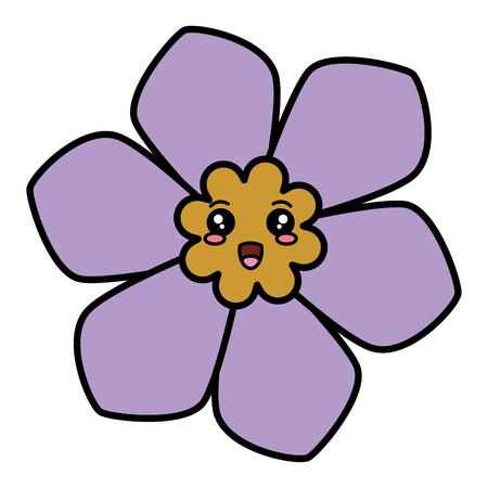 귀여운 꽃 스파 카와이 문자 벡터 일러스트 디자인
