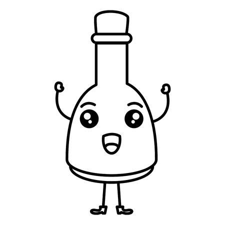 oil bottle spa product character vector illustration design Illustration