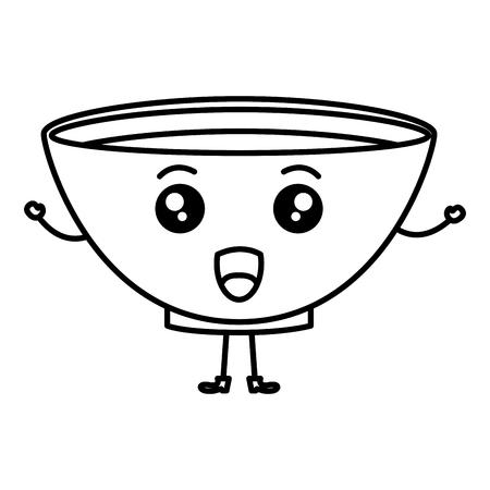 bowl with recipe kawaii character vector illustration design Vectores