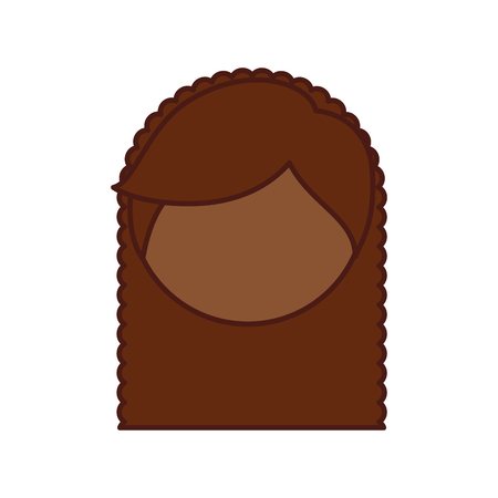 Cute little black girl character vector illustration design