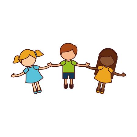 子供の手の文字を保持してベクトルのイラスト デザイン