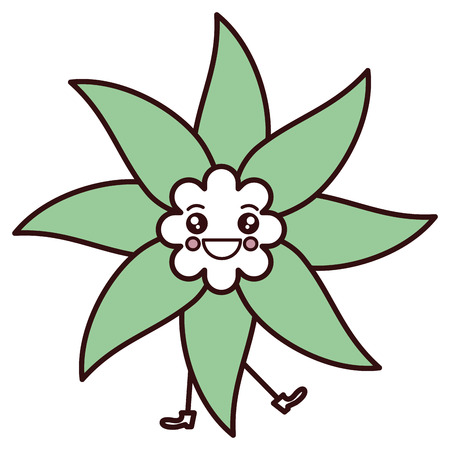 かわいい花スパ カワイイ文字ベクトル イラスト デザイン