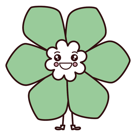 귀여운 꽃 스파 카와이 문자 벡터 일러스트 디자인 스톡 콘텐츠 - 84669168
