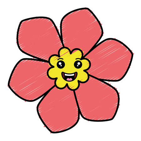 Cute flower spa character vector illustration design