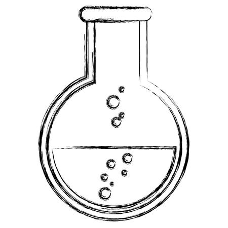 Provetta con acqua e bolle che si levano in piedi all & # 39 ; interno illustrazione vettoriale Archivio Fotografico - 84670556