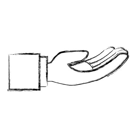 Main demandant isolé conception d'icône vector illustration Banque d'images - 84669666