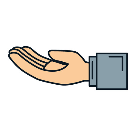 Hand asking isolated icon vector illustration design Banco de Imagens - 84669942